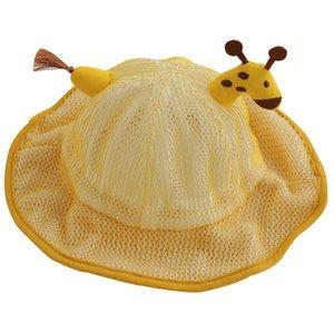 Cute Cartoon Summer Sun Hat for Male and Female Babies