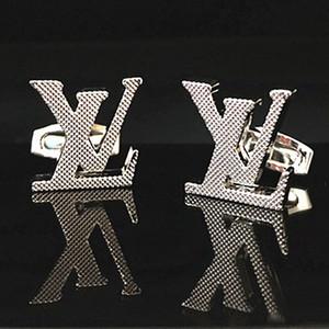 Marka Lüks adam hediyeler Süsler Takı için Mens Tasarımcısı Fransız Gömlek Kol Düğmeleri Düğün Baba Damat Groomsmen L Kol Düğmeleri kol düğmeleri