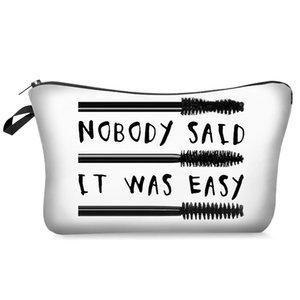 السيدات فرشاة لاش أكياس نمط الحقائب الطباعة حقيبة مستحضرات التجميل مع مختلف ماكياج مستحضرات التجميل قماش للنساء رمش الحقيبة السفر cgkmn