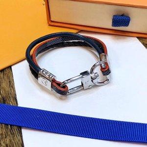 Três cores Pulseira mão corda tecida com Pulseira Top Brass Luxo Pulseiras Magnet Buckle para Corda Homens e Mulheres Código com gratuito Box