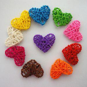 9 Colors 5Pcs Lot 10 13 16CM Christmas Pendant Rattan Ball Heart Sepak Takraw Birthday Party & Home Wedding Party Decoration