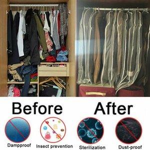 Giyim Saklama Poşetleri Toz Kapağı İçin Ev Toptancı toz geçirmez PEVA Giyim Toz Kapağı Şeffaf Plastik Elbise Poşetleri