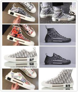 2020 19FW B23 Oblique High Low Top Sneakers vintage platform Obliques Technical Leather Luxury Mens Shoes Womens Trainers Size 36-44