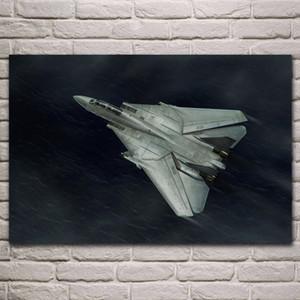 Grumman kämpfer F-14 Tomcat flugzeug stoff poster wohnzimmer hause wand dekorative leinwand silk kunstdruck KJ823