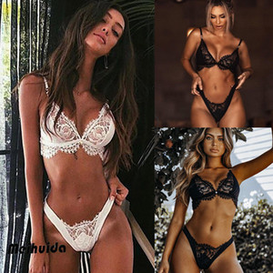 Lace Womens Sissy / sexy della biancheria floreale Babydoll Sleepwear + G-string 2pcs Set Pigiami Intimo