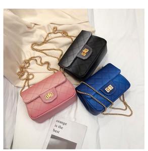 Diseñador-2019 nueva bolsa de la cadena de rosca de la moda de las mujeres de la Cruz bolsas para cadáveres bolso del teléfono móvil bolsa de la cadena de la tela escocesa bolsas de hombro ancho hongri / 3