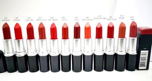 새로운 메이크업 레트로 매트 립스틱과 새틴 립스틱 칠리 러시아어 붉은 색 립스틱 루즈 Levres 3g와 알루미늄 튜브