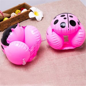 Children Swim Arm Bands Floats Ladybug Shape Thick Inflatable Armbands Floater Trainer Pool Toy