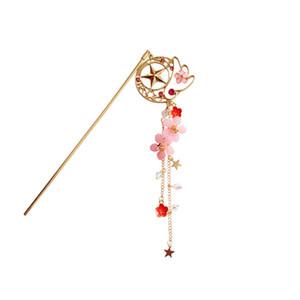 Anime dos desenhos animados Sailor Moon Card Captor Cardcaptor Sakura Cabelo Pin Acessórios Doce Flor Hairpin Doce Hairclip Oco Estrela