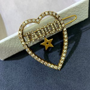 New love letters diamonds wild fashion designer hair clips luxury designer jewelry women hair clips 66666