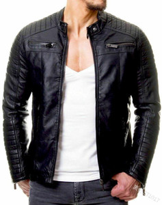Moto Vestes Slim Fit Designer Fermeture eclaire cool Veste Hombres 5XL Hommes PU cuir