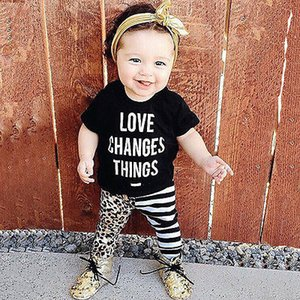 2020 summer style baby girl clothes Infant clothing cotton fashion letters T shirt+pants 2pcs newborn baby clothing set
