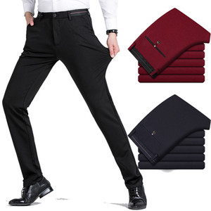 New spring autumn men's casual pants elastic youth Business Suit trousers Stretch fabrics male slim long Dress Pencil pants