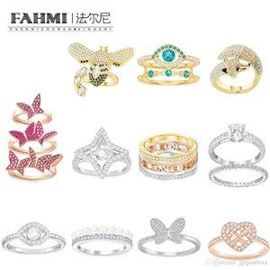 Fahmi SWA elegante einfache Teufelsaugen Fox Schmetterling Bienen-Liebe, Fließendes Ring Rose Gold für Frauen-Valentinstag-Geschenk Ursprüngliche