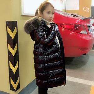 OLEKID -30 градусов Теплый пуховик для девочки Fox Fur Дети девочек Зимняя куртка 2-12 лет Подростки Coat Дети Мальчики Верхняя одежда MX191030