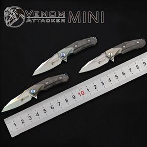 السم المهاجم البسيطة الجيب سكين M390 بليد التيتانيوم مقبض سكين للطي التخييم التنزه الصيد بقاء أدوات edc