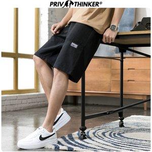 Privathinker 2020 Homens Pockets Oversize Sweatpants coloridos dos homens Shorts Casual Verão Fashions macho coreano comprimento do joelho Shorts Y200511