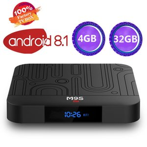 2019 Оригинальный M9S J1 4 ГБ 32 ГБ Android 8.1 TV Box RK3328 4K Smart Streaming Media Player Поддержка 2,4 Г Wi-Fi лучше S905X2 S8 Макс H96 MAX PLUS