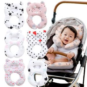 Assento do bebê Crianças de protecção do pescoço Suporte Encostos de viagem de carro de algodão macio Pillow Stroller Cushion