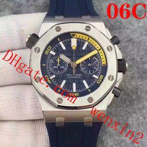 18 цвет роскошные часы.42 мм многофункциональный VK кварцевый таймер точного времени. Серебряный корпус из нержавеющей стали резинкой.Топ розовое золото мужские часы