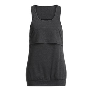 Women maternity clothes Loose Comfy Pull-up Nursing Tank Tops Vest Breastfeeding Shirt pregnancy clothes lactancia ropa#pingyou