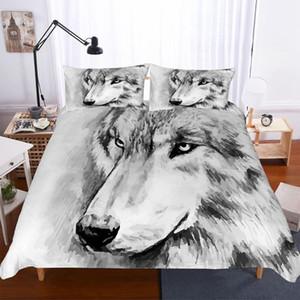 Yi Chu XIN 3d снег волк комплект постельных принадлежностей King / Queen / размер двойной 3шт набор пододеяльник размер королева утешитель