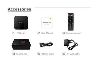 TX3 البسيطة P A الروبوت 7.1 TV BOX 2GB 16GB بلوتوث AMLogic نوع S905W رباعية النواة الذكية التلفزيون صندوق 4K 1G-8G بلوتوث