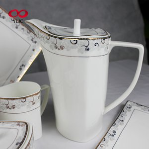High Grade Royal Luxury Com Padrão Ouro Rim Dinnerware Set
