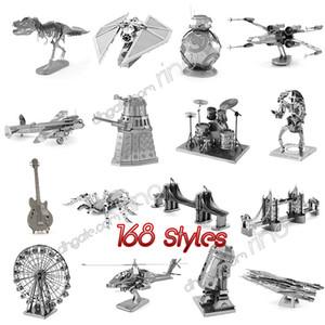 168 Designs Metall 3D-Puzzles Spielzeug Modell DIY Flugzeug Autos Panzer Tie Fighter Flugzeuge 3D Metallic Nano Gebäude Puzzle für Erwachsene und Kinder