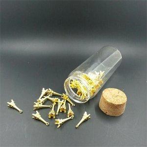 37 * 120 * 27mm 90ml Big Glass Corks Bottles Gift Glass Vials Jars 50pcs / lot الجملة زجاجات الشحن المجاني