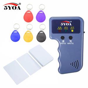 Leitor de Cartão de Vídeo RFID 125KHz EM4100 Copiadora Duplicadora + EM4305 T5577 ID Regravável Keyfobs Tag Cartão