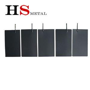 Numune 100 * 60 * 0.5mm RU-IR GR2 Platin Kaplamalı Titanyum Eloksal Plaka Su Ionizer için Anodize Plaka Için