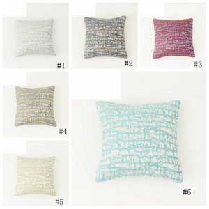 6 Styles Cloud Texture Pillow Case Cushion Gold and silver piping design Pillow Cover Xmas Christmas square pillowcases GGA2387