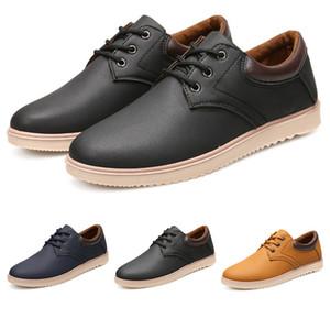 2019 بيع كامل العمل للماء وعدم الانزلاق كبير فروة الرأس أحذية الرجال الاحذية الأسود المصممين البني اللون الأزرق أحذية رياضية حجم 39-44