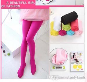 Printemps filles Leggings Bonbons Couleur Enfants Vêtements Collants Enfants Costume Leggings Enfant Vêtements Collants Bébé Fille Leggings 20pcs / lot HR459