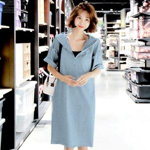 Abito estivo Pop2019 Xiachunshai Easy Leisure Time Donna Even Hat Skirt Suit-dress