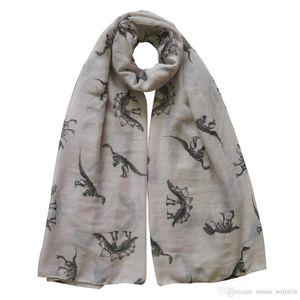 Fashion Dinosaurs Print Mens Womens Childrens Scarf Shawl Wrap Soft Lightweight All Seasons Gift Idea for Dino Fans