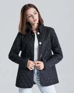 Горячий Классический!женская мода Англия короткий тонкий хлопок ватник / высокое качество бренд дизайнер куртка для женщин размер S-XXL #19010
