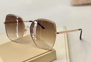 Cuadrado de la manera Gafas de sol del oro de Brown 4682 del metal de los vidrios Sonnenbrille señoras Gafas de sol Gafas de vacaciones Nueva caja wth