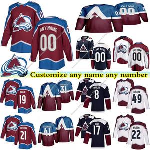 Colorado Avalanche Trikots 49 GIRARD 8 MAKAR 19 Šakić 21 FORSBERG 17 JOST 31 Grubauer benutzerdefinierte beliebige Anzahl beliebiger Name Hockey Jersey
