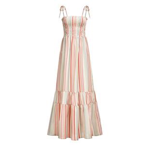 Sommer-Ferien-Styles Womens Designer Blumenkleider Spaghetti-Bügel-Ferien Boho Styles Gurt-Taillen-Maxi Sommer-Frauen Kleider