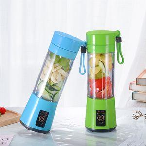 Mini Portable Electric Fruit Juicers 380ml Multi Blades USB Rechargeable Smoothie Maker Blender Machine Sports Bottles Juicing Cup