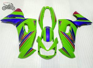 المجانية العرف تعيين مجموعة ل Kawasaki Ninja 650R ER-6F 2006 2007 2008 الأخضر الأزرق دراجة نارية Fairings Kits 06 07 08 ER6F 650R