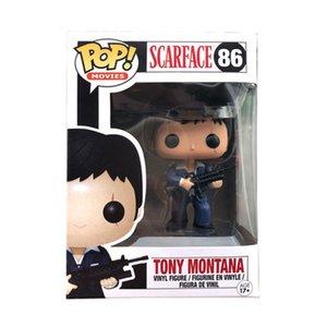 New Funko pop !! SCARFACE 86 # TONY MONTANA PVC Anime figura figura coleção Brinquedos para presentes de aniversário brinquedo