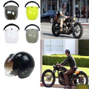 Universal Helmets Bubble Shield With UV 400 Protective Gears For 3 Button Helmet, Half Helmet, 3 4 Helmet Motorcycle Accessories