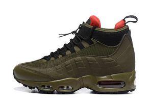 Hot Sale-Fashion Stiefel 95 Black Herren Kissen New Ankle Boots Hight Top 95s wasserdichte Arbeitsstiefel Herren Schuhe Billig Verkauf