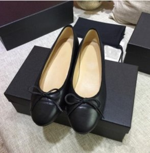 makosenler büyüklüğü 35 2020 Yeni Geliş Lüks kadın Bow hakiki Deri Düz Bale Ayakkabıları İlkbahar Moda Casual Kayma - 40