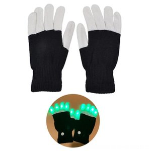 2pcs Luminous Carnival & Mittens Hats, Scarves & Gloves Festival LED Gloves Fashionable For Stage Show Glowing Party Necessary Household Fes