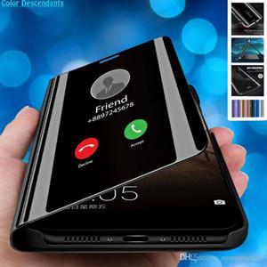 Tina Inteligente Espelho Ver Virar Capa Para Huawei Honor 10 20 Lite Pro 8X 8A 8C 8S Jogar Ver 9 Y5 Y6 Y7 Y9 primeiro-P Inteligente 2019 Z tampa do telefone