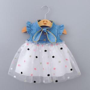 Baby Girls Robe 2020 Summer Princess Party Tulle Tulle Toddler Robes Enfant Vêtements Nouveau-né Joyeux Anniversaire Tutu Robe 0-2y Vestidos